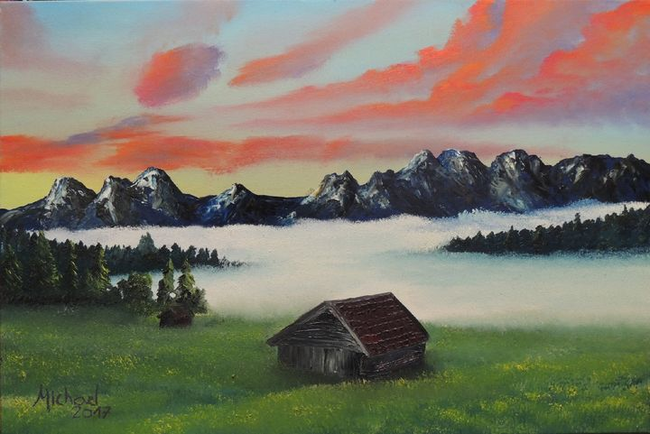 Clouds in the mountains - Michael Barros Pinturas