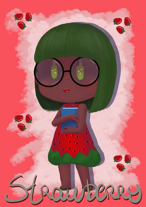 Chibi Strawberry - Digital Art