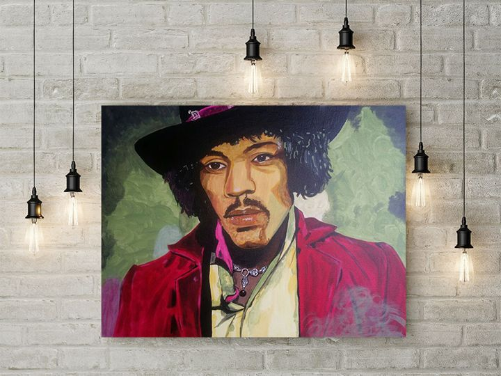 Jimmy Hendrix painting - Jimmy Morrison