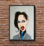 marilyn manson caricature painting