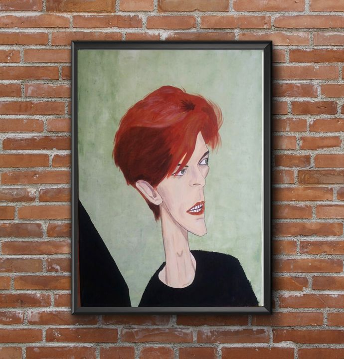 David Bowie caricature painting - Jimmy Morrison