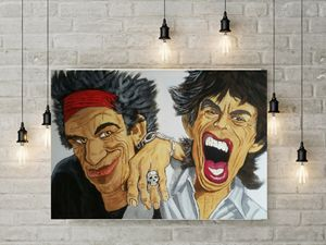 Rolling stone caricature painting - Jimmy Morrison