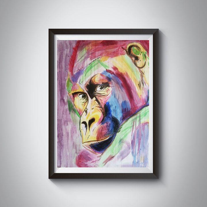 monkey painting acrylic - Jimmy Morrison