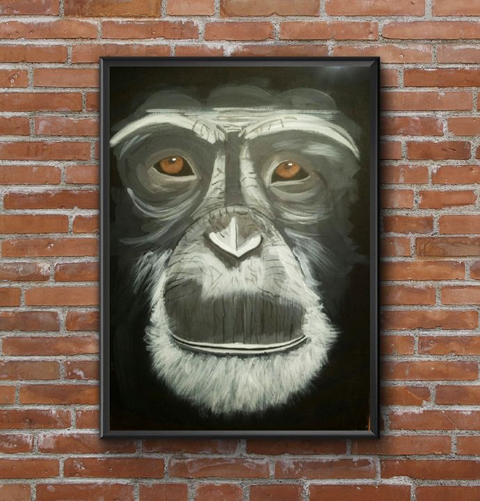 monkey painting acrylic - Jimmy Morrison