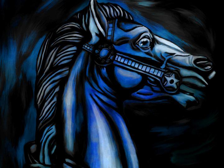Blue Horse - Rosemary Wendorf