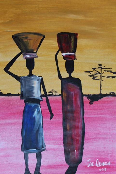 Market women - African Art Gallery