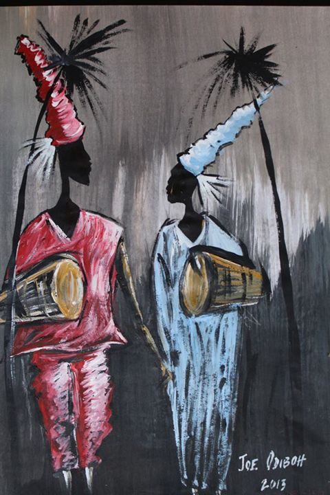 The Drummers - African Art Gallery