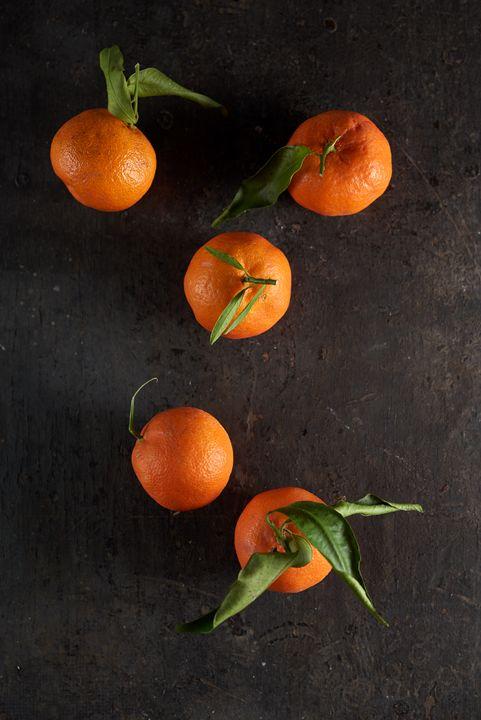 Tangerines whole orange fruits. - Kalinka Georgieva
