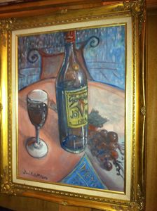Still Life with Wine bottle