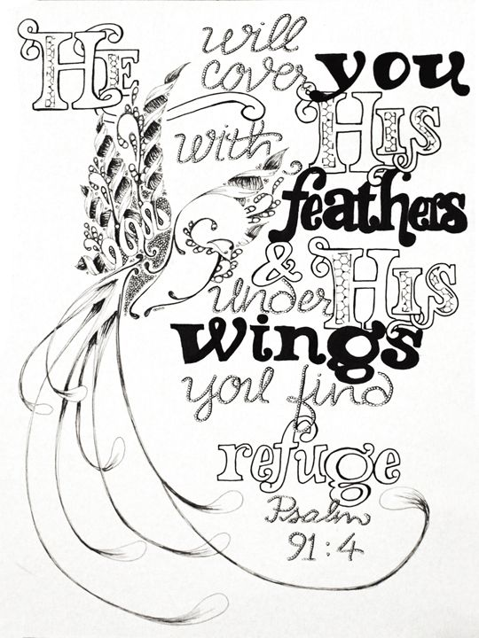 Under His Wings - InspiredCreativeArt