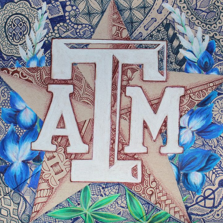 Texas A M In Bluebonnets Inspiredcreativeart Drawings