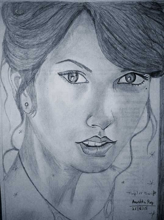 Taylor Swift's sketch - arts of anushka