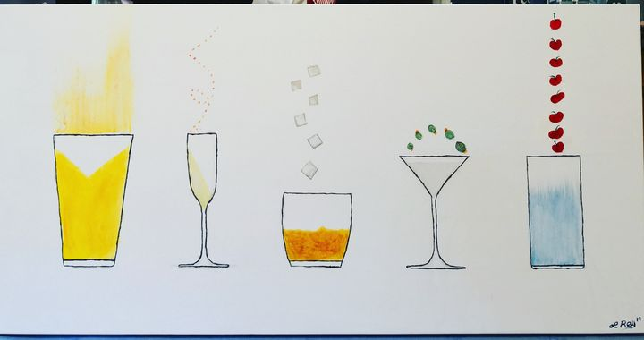 One Drink, Two Drink - LRey Art