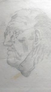 Elderly male profile