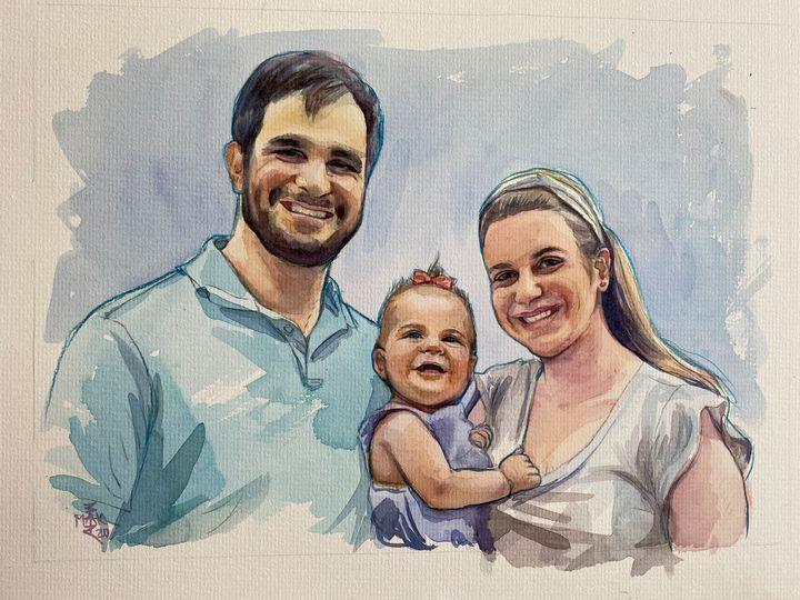 Commission Watercolor Portrait - Varvara Maximova Art