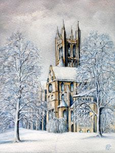 Canterbury Cathedral in Winter - Rosemary Colyer