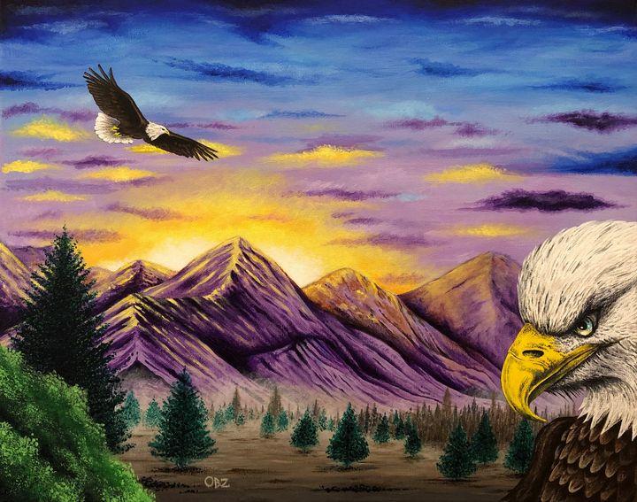 """""""Smoky Mountain Eagles"""" - Gregg's Deep Colors"""