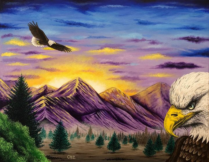 """Smoky Mountain Eagles"" Painting - Gregg's Deep Colors"