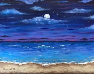"""Ocean Moon"" - Gregg's Deep Colors"