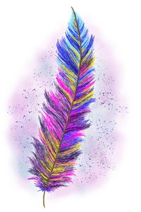 """""""Feather From Above"""" Digital Art"""