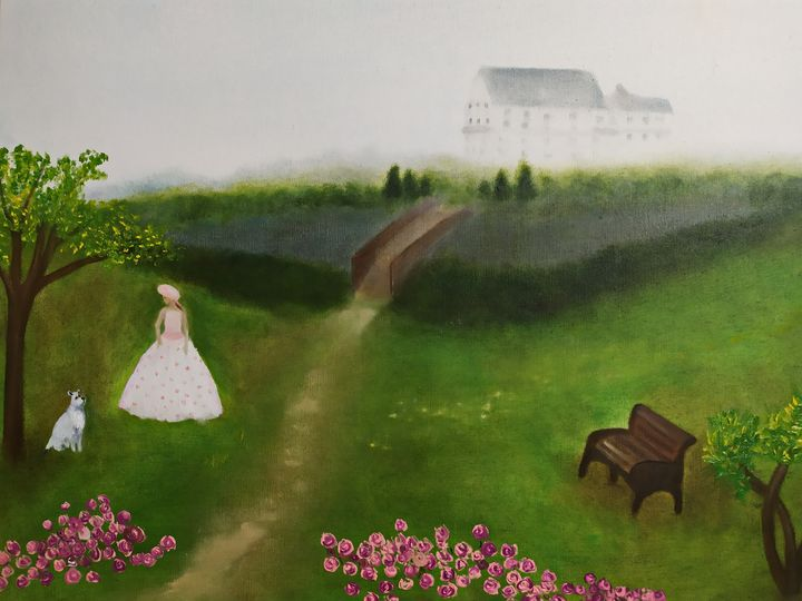 летний сад - original art