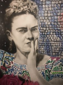"""Frida black and white"""