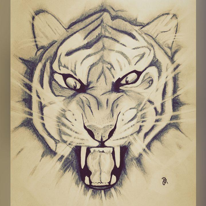 Tiger head - Budahmind artwork drawings