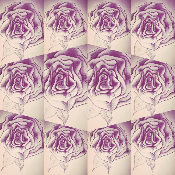 Newskool rose art - Budahmind artwork drawings