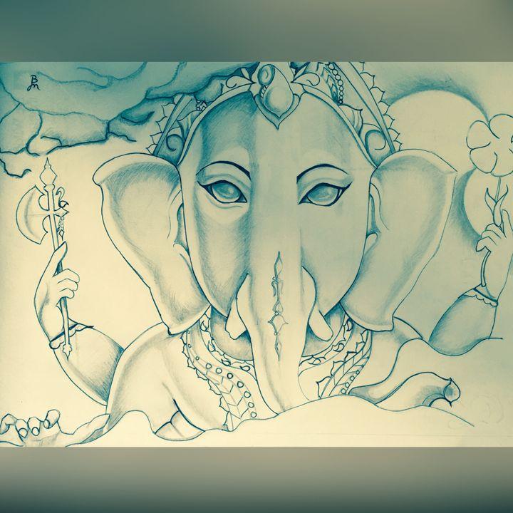 The ganesha - Budahmind artwork drawings