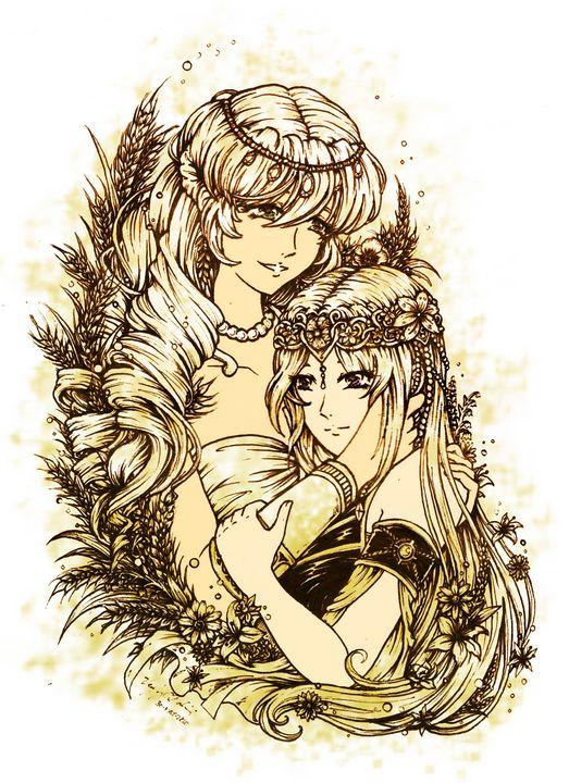 Demeter and Kore - Lord Vee Jay