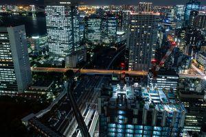 Tokyo Minato city by night.