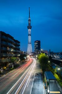 Tokyo Skytree during the twilight