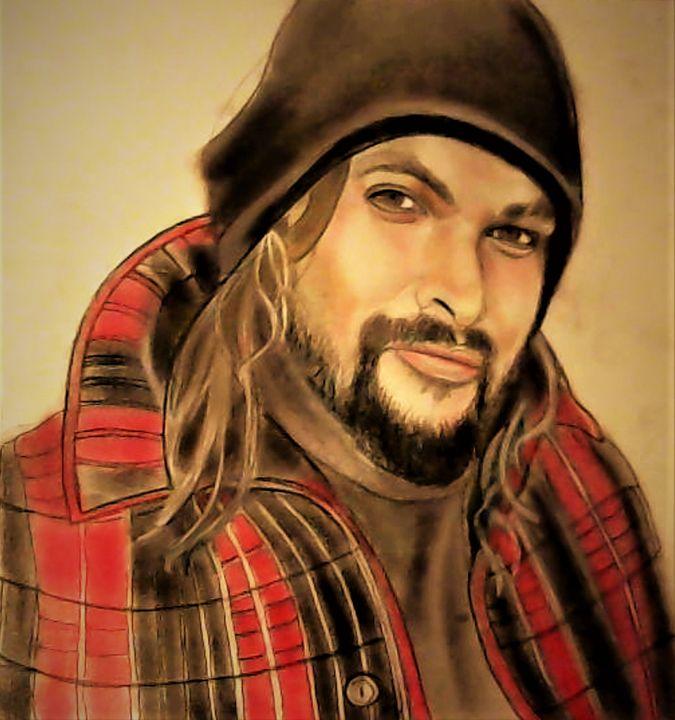 Jason Momoa - Drawings of Celebrities by Lisa Vetrone