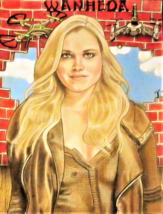 Eliza Taylor - Drawings of Celebrities by Lisa Vetrone