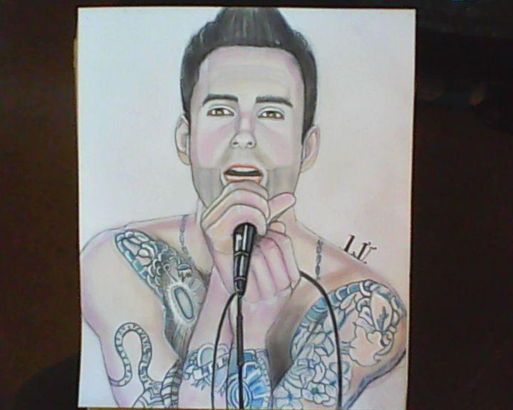 Adam Levine - Drawings of Celebrities by Lisa Vetrone