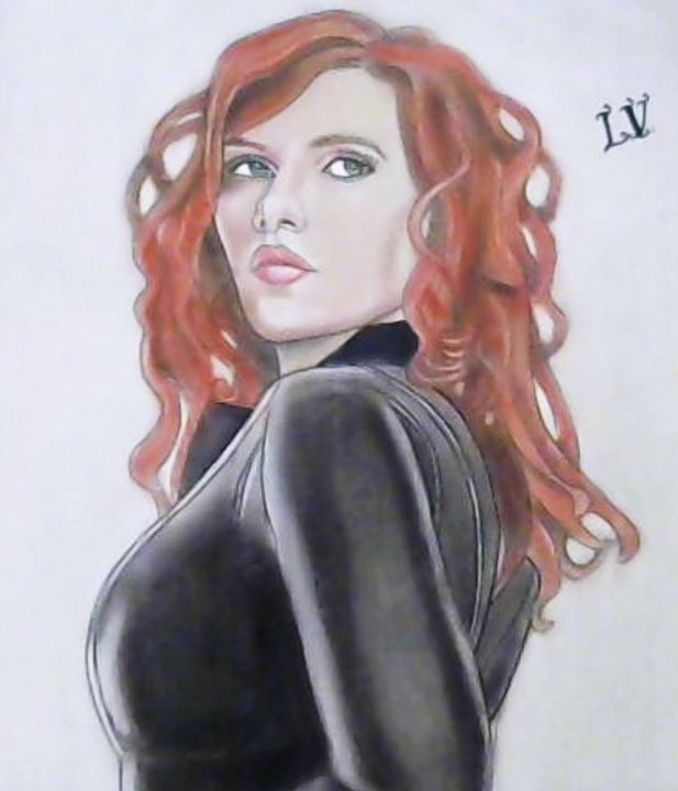 Scarlett Johansson - Drawings of Celebrities by Lisa Vetrone