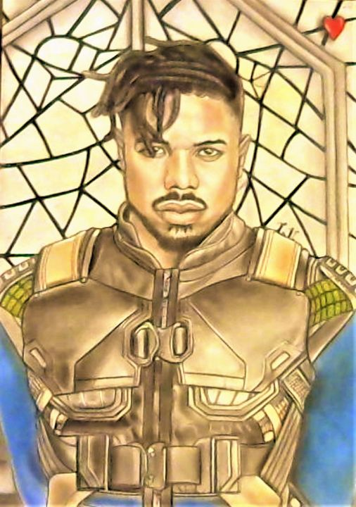 Michael B. Jordan - Drawings of Celebrities by Lisa Vetrone