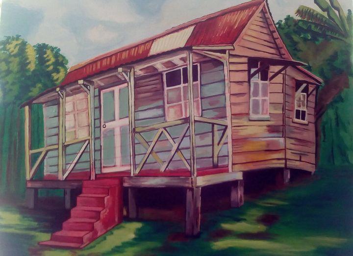 Jamaican old house - Gretel White Art