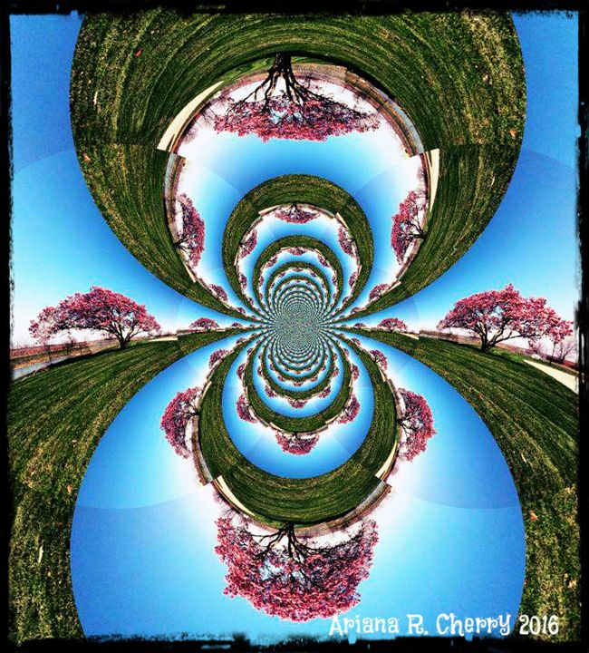 """Tree of Life"" Abstract Photo Design - Original Art by Ariana"