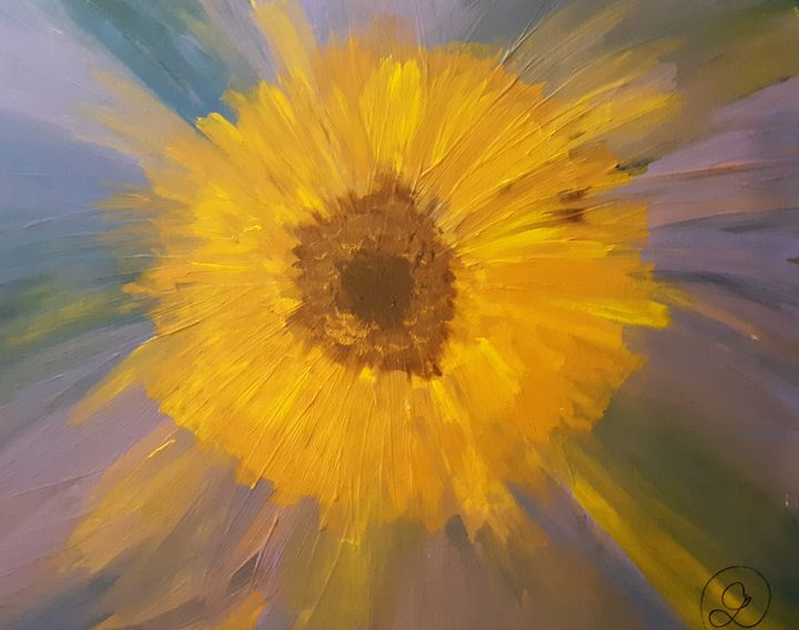 Radiant Sunflower - Poetry and Painting