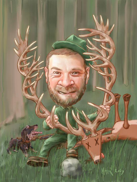 Hunter caricature - MoHoR