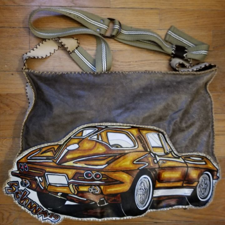 Over the Shoulder Leather Corvette B - SchwasLeatherBags