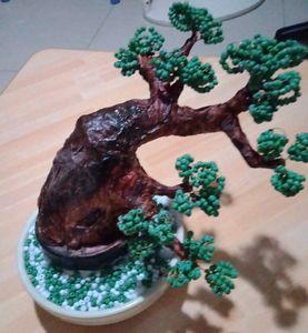 beaded bonsai tree
