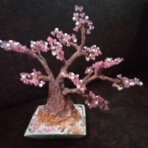 cherry blossoms with pearls