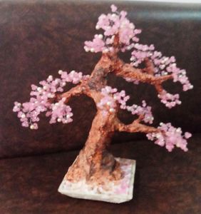 beaded bonsai artificial tree