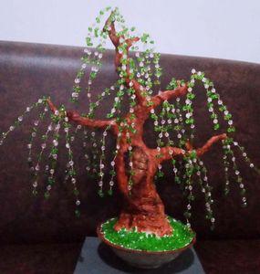 beaded bonsai tree - weeping willow