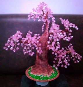 """beaded bonsai """"cherry blossom"""" tree"""