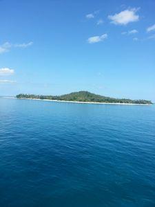sea view of an island