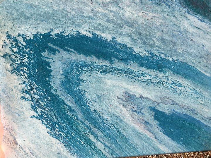 """Teal Saturn"" #61 original - Chris Link Art"