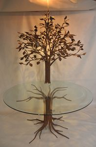 Tree table/chandelier